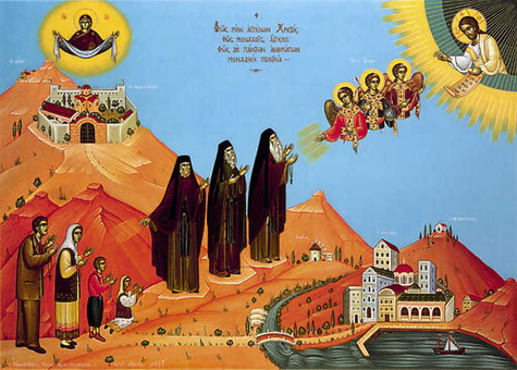 Lumina monahilor stralucind mirenilor