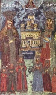 Dreptcredinciosul voevod Neagoe Basarab cu familia