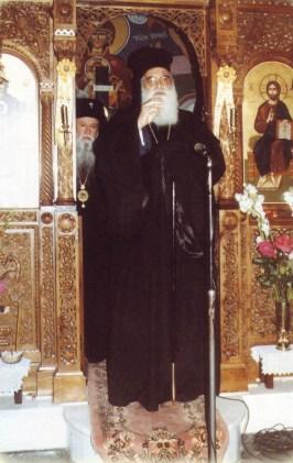 Patriarhul Diodor al Ierusalimului predicând la Fili, 2 oct 1989