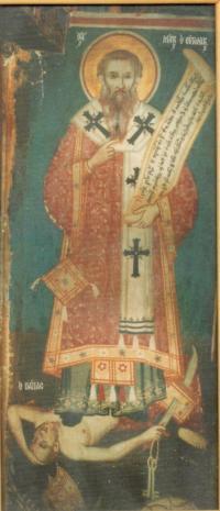 Sfântul Marcu al Efesului răpunându-l pe ereticul papă