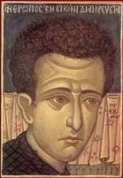 Fotie Kontoglou, portret din tinereţe